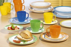 Kunststoff- und Melamin-Geschirr Pflege