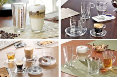 glass mugs and cups