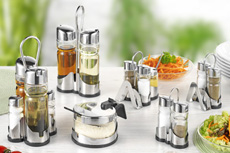 """New Line"" condiment sets"