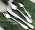 68-pcs. cutlery set SABRINA 18/0 polished in croco case No. 1, black, incl. black inlays