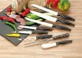 Peeling knife MOON Special steel blade, black PP plastic- Handle, blade thickness: 1.5 mm, on hang card
