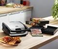 Sandwich- und Waffeleisen SNACK COLLECTION von Tefal. Erweiterbar um Platten für Panini, Teigtaschen, Küchlein, Donuts u. v. a.
