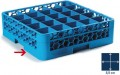 Carlisle basic glass basket, 50 x 50 cm, blue, 25 compartments  8.9 x 8.9 cm, height 8 cm