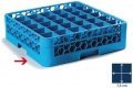 Carlisle basic glass basket, 50 x 50 cm, blue, 36 compartments  7.4 x 7.4 cm, height 8 cm
