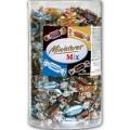 Mars Miniatures Mix, 3 kg. Die 4 beliebtesten Klassiker.Runddose (ca. 296 Stück). Mars, Bounty,  Snickers und Twix im Miniformat, einzeln verpackt.
