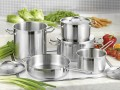 Bartscher 9 part saucepan set CÄSAR, Material: Chrome nickel stainless steel 18/10