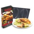 Platten-Set zu Tefal Snack Collection, antihaftbeschichtet, Maße: 242 x 155 mm, Teigtaschen Set XA8008,