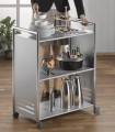 "Serving shelf-trolley ""Vancouver"" with chrome plat Dimensions: 70 x 40 x 84 cm (L x W x H)"