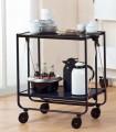 Leifheit Beistellwagen Butler, Farbe: schwarz Tischhöhe: 72 cm, Tragfähigkeit ca. 30 kg., Abstellfläche 60 x 40 cm