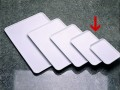 Serving tray BASIC white Dimensions: 280 x 190 x 12 mm, Stackable, made of SAN plastic