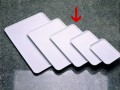 Serving tray BASIC white Dimensions: 350 x 240 x 12 mm, Stackable, made of SAN plastic