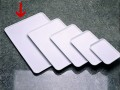 Serving tray BASIC white Dimensions: 500 x 360 x 12 mm, Stackable, made of SAN plastic
