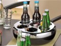 Bottle cooler PURE, colour: blac/chrome, made of plastic, incl. cold pack, Height: 100 mm, diameter: 290 mm