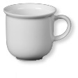 Mug with handle TODAY, volume 0.26 ltr,  Height: 8.3 cm, plain white, Eschenbach,