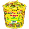 Haribo children's dummies fruit gum, Content: 100 mini-sachets  10 g in round tin,