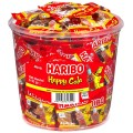 Haribo Happy Cola, Content: 100 pcs. Mini-sachets  10 g in round tin