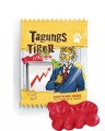 CONFERENCE TIGER, Content: 100 sachets  10 g per round tin, Fruit gum with taurine,