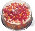 Torten-/Kuchenplatte mit Haube aus Edelstahl  Durchmesser: 30 cm, Höhe: 11 cm