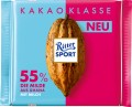 Ritter Sport 55% Ghana die Milde Kakao  Klasse-Sortiment 100G