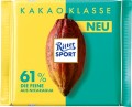 Ritter Sport 61% Nicaragua die Feine Kakao  Klasse-Sortiment 100G