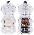 Salt/ pepper mill set PEPPER small Diameter: 5.5 cm, height: 12 cm made of acrylic glass, volume: 0,05 ltr