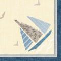 DUNI Dunisoft-Servietten 40 x 40 cm, Seaway Inhalt: 60 Stück