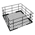 Vogue Wire high sided Glass basket  180(h)x400(w)x400(d)mm