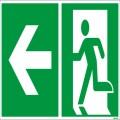 Hinweisschild Rettungsweg 30 x 15 cm (B x H)  Rettungsweg links PVC-Folie