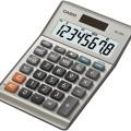 CASIO Tischrechner MS-80B 103 x 28,8 x 147 mm (B  x H x T) Solar-Energie, Batterie silber