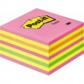 Post-it Haftnotizwürfel Maße: 76x45x76mm, 450 Blatt, Farbmix neon-pink