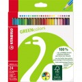 STABILO® Farbstift GREENcolors farbig sortiert 24  St./Pack.