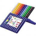STAEDTLER® Farbstift ergo soft® jumbo 158 weiß,  gelb, rot, blau, lichtblau, orange, hautfarben,  grün, gelbgrün, violett, van-Dyke-braun, schwarz