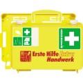 SÖHNGEN® Erste Hilfe Koffer EXTRA 26 x 17 x 11 cm  (B x H x T) DIN 13157 inkl. Wandhalterung mit  90-Stopp-Arretierung leuchtgelb