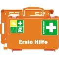 SÖHNGEN® Erste Hilfe Koffer QUICK-CD 26 x 17 x 11  cm (B x H x T) DIN 13157 inkl. Wandhalterung mit  90-Stopp-Arretierung orange