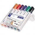 STAEDTLER® Whiteboardmarker Lumocolor® 351 B  2-5mm rot, blau, grün, schwarz, orange, violett 6  St./Pack.