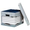 Bankers Box® Archivbox System 33,3 x 28,5 x 39 cm  (B x H x T) DIN A4/DIN A4+ mit Archivdruck  Karton, 100  recycelt grau/weiß