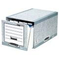 Bankers Box® Aufbewahrungsbox System 35 x 29 x  54,5 cm (B x H x T) Karton, 100  recycelt  grau/weiß