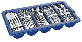 Economy set SYLVIA, stainless steel 18/0, material 2.2/2.0 mm, high gloss polished, 180 pieces of cut for 36 persons, with cutlery holder.