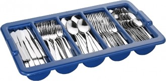 Economy set SASKIA, stainless steel 18/10, materia 2.0/1.8 mm, polished, 180 pieces of cutlery for 36 persons with cutlery holder.