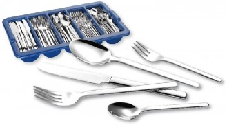 Economy set BETTINA, stainless steel 18/10, polished, 180 pieces of cutlery  with cutlery container.