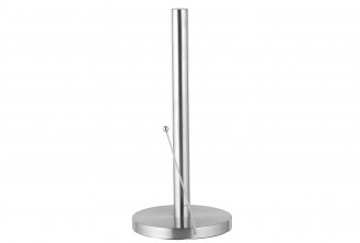Kitchen roll holder SAM, made of matt finished stainless steel, with convenient tearing aid, In gift box.