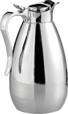 Vacuum flask PALACE,  Made of stainless steel 18/10, unbreakable.  Height: 225 mm, content: 1.0 litres.