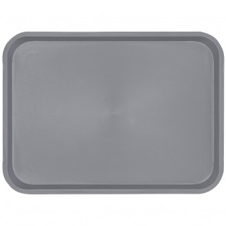 serving tray rect.,grey pp, anti slip surface rect. size: 41,5 x 30,5 cm, H 2 cm,