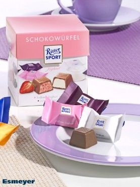 RITTER SPORT SCHOKOWUERFEL yoghurt 176G, (chocolat Content: 22 pieces  8 g per box, single hygienic packaging