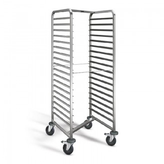 Shelf trolley RWRR 161 18 rack guides / 73 mm gap L 662 x W 735 x H 1.645 mm