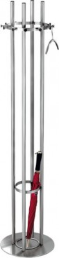 Stainless steel standard coat stand ARISTO