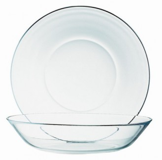 Bowl, tempered glass deep COSMOS Diameter 14 cm - height, 2.5 cm