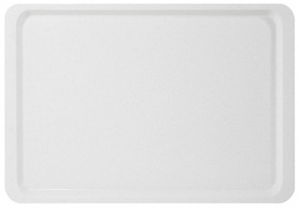 Tray EASY gastronomy norm GN 1/1, colour white, made of fibre-glass reinforced polyester resin, Length: 530 mm, width: 325 mm, height: 16 mm