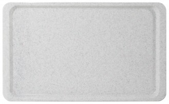 Tray EASY euronorm EN 1/1 granite, made of fibre-glass reinforced polyester resin, Length: 53 cm, width: 37 cm, height: 1.6 cm