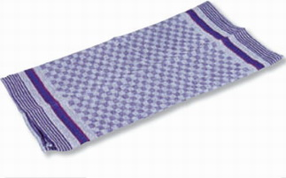 Tea towel made of 100 cotton, Colour: blue / grey chequered, Dimensions: 1000 x 500 mm